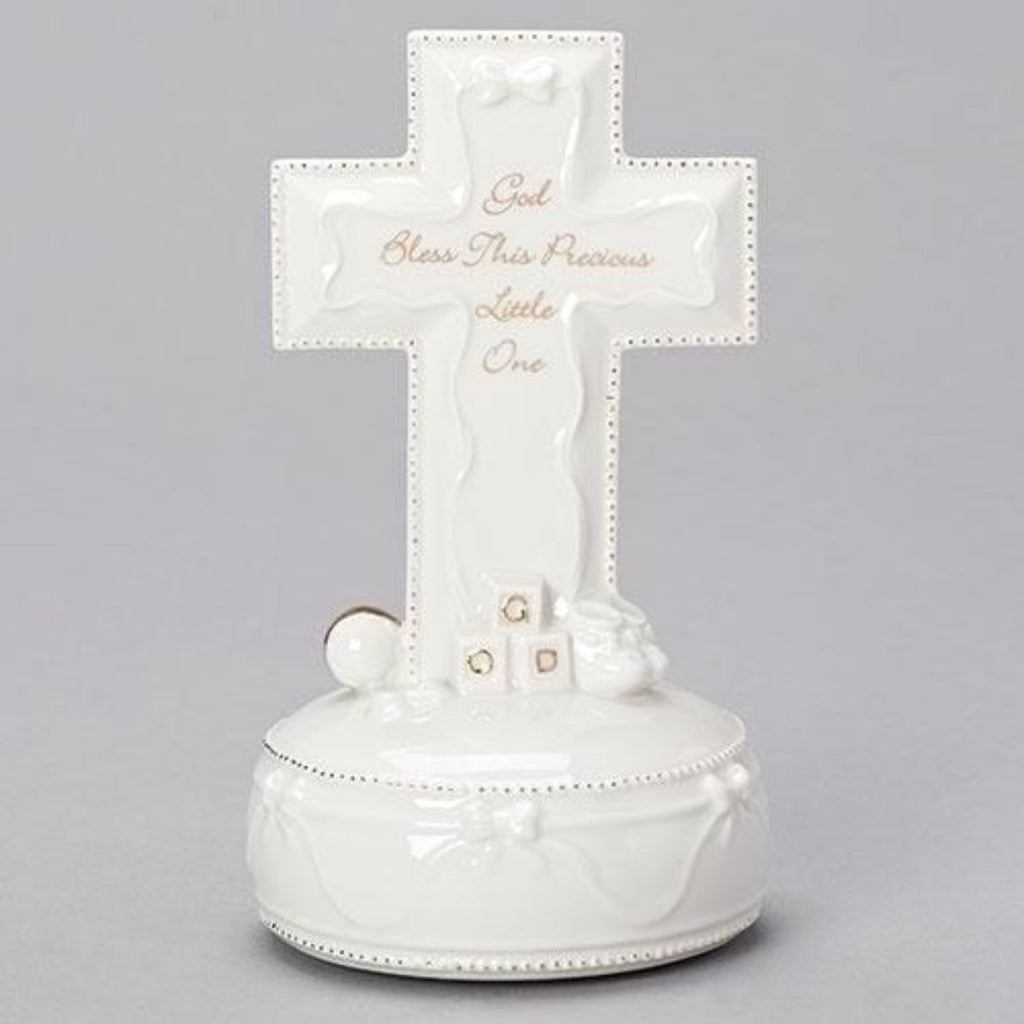 God Bless This Little Precious One Musical Cross Baby Gift