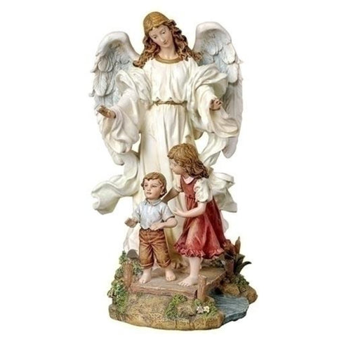Gardian Angel WIth Children On Bridge Christian Figure From Joseph Studios