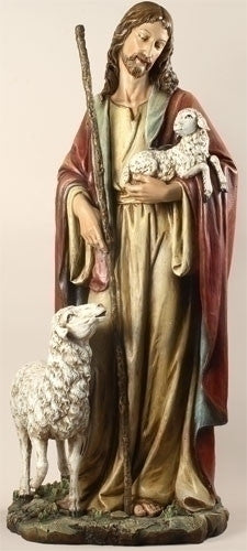 "Jesus The Good Shepherd Statue Large 38.5"" Tall"