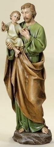 "Saint Joseph With Baby Jesus Figure 14"" Tall From The Joseph Studio"