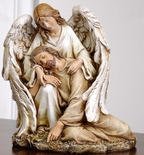 Angel With Fallen Jesus Hand Painted Figure Renaissance Collection