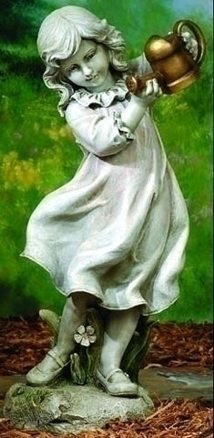 Little Girl Holding Watering Can Large Size Garden Figure From Joseph Studios