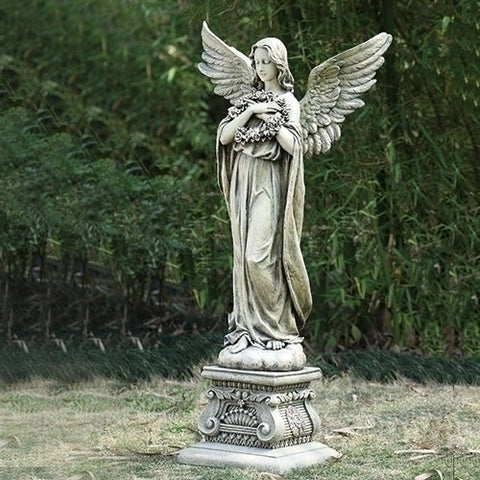 "48"" Tall Guardian Angel Statue Garden Home Chapel Gravesite Amazing Figure"
