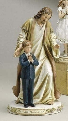First Communion Little Boy With Jesus Figure