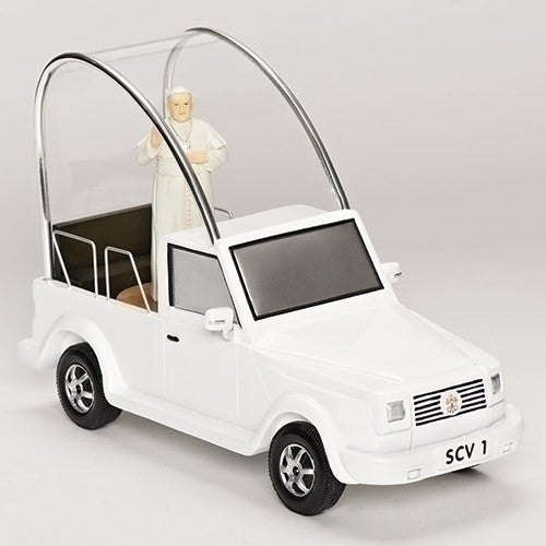 Pope Francis Musical Popemobile With Spinning Pope Figure