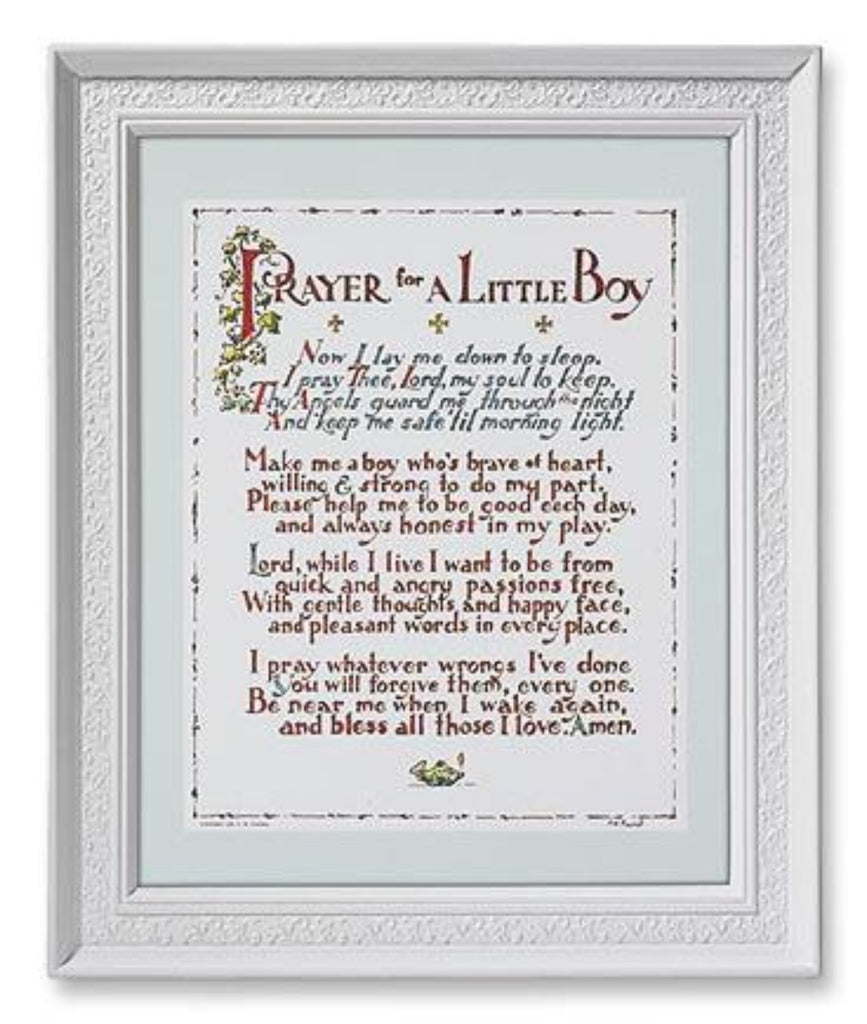 Prayer For A Little Boy Baptism Or Birth Gift