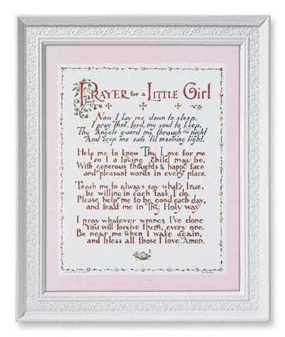 Prayer For A Little Girl Baptism Or Birth Gift