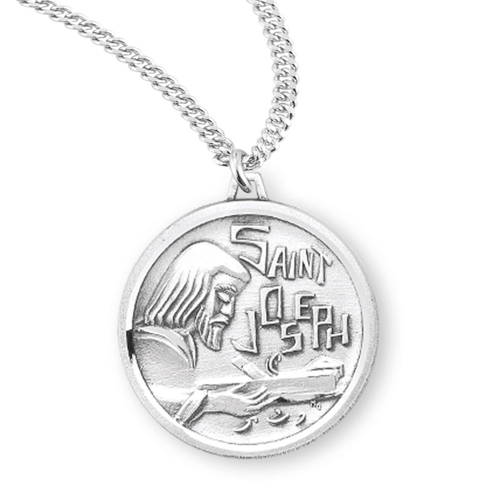 Saint Joseph The Worker Sterling Silver Medal