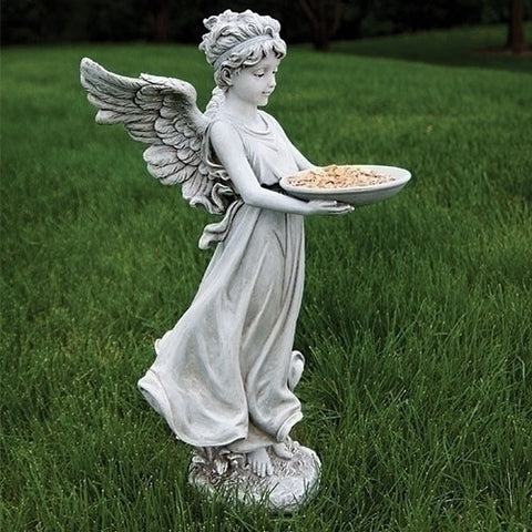 Angel With Large WIngs Bird Feeder For Garden Or Patio decor