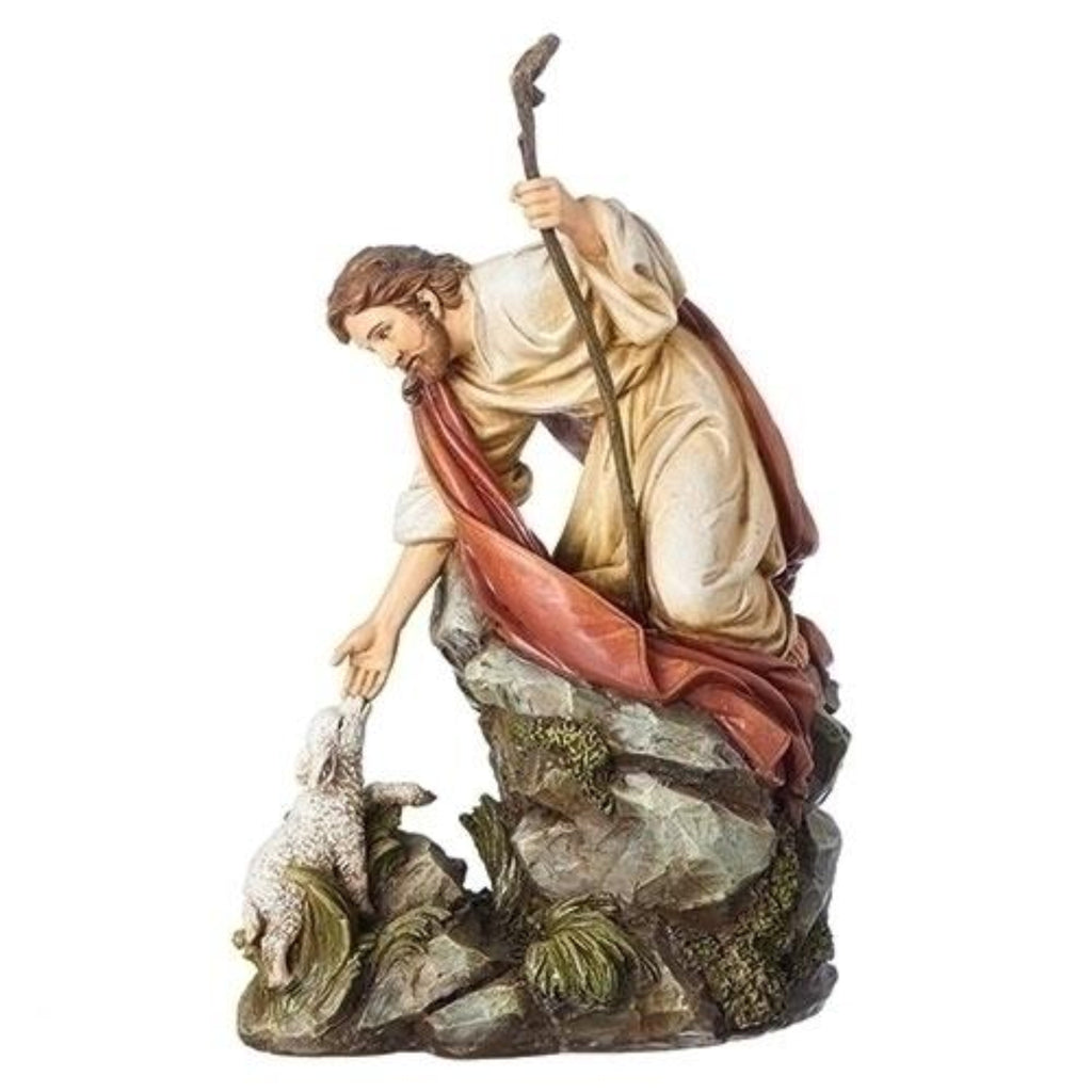 Jesus With Lamb Christian Figure