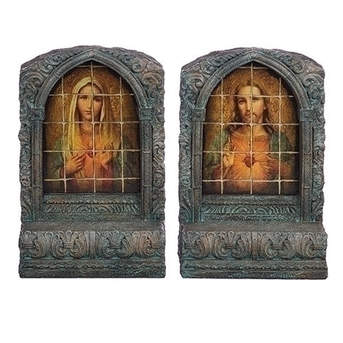 Sacred Heart Of Jesus And Immaculate Heart Of Mary Bookends
