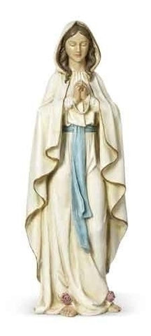 "Our Lady of Lourdes France Catholic Statue 24"" Tall"