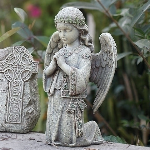 Irish Celtic Angel Kneeling To  Pray Garden Figure From Joseph Studios
