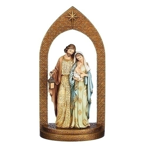 Holy Family Under Arch Statue