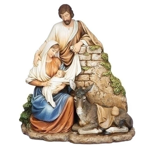 Holy Family Nativity With Donkey