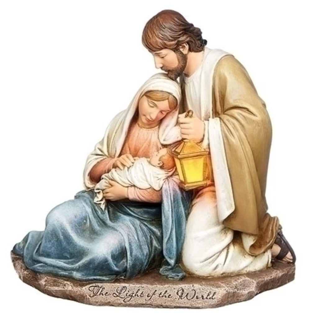 Light of the world holy family statue