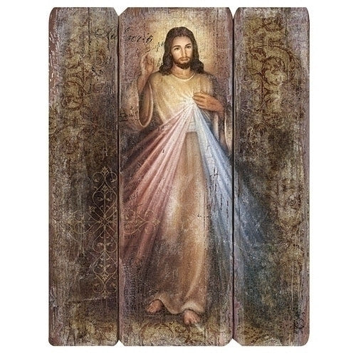 Divine Mercy Of Jesus Wooden Pallet Wall Plaque  Large Size 26 Inch
