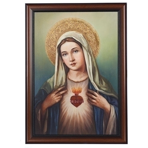 Immaculate Heart of Mary Large Framed Art 27 Inch