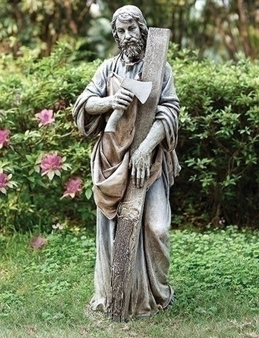 "Saint Joseph The Carpenter Garden Statue Extra Large 36"" Tall From Joseph Studio"