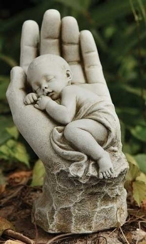 In The Palm of Gods Hand Memorial Miscarriage Baby Statue SOLD OUT COMING SOON