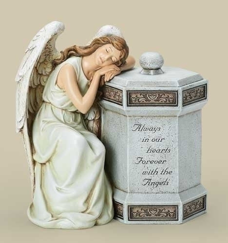 Always In Our Hearts Angel  Memorial Garden Statue