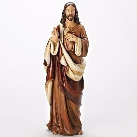 Sacred Heart Of Jesus Statue Renaissance Collection 18 Inch
