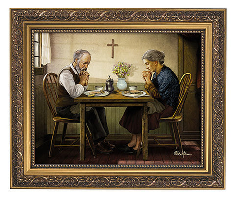 Thanksgiving Let Us Give Thanks Print In Frame By Artist Michael Adams