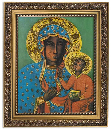 Our Lady of Czestochowa Madonna of Poland Icon Framed Print Under Glass