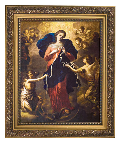 Our Lady Of Knots Undoer Untier of Sins Print In Frame With Glass