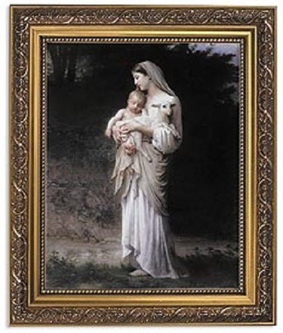 Madonna And Child Innocence Print By Artist Bouguereau