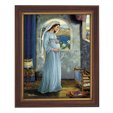 Mary Mother Of God Print In Frame By Artist Michael Adams