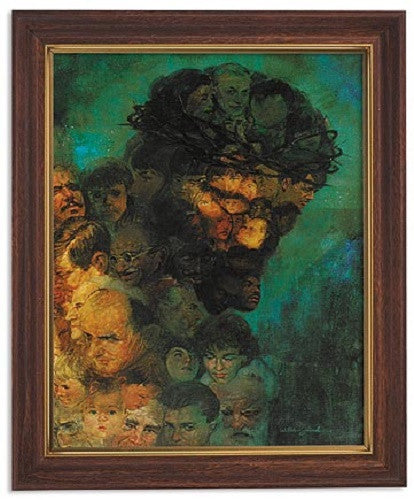 In His Image Jesus Print By Artist Zdnak Woodtone Frame