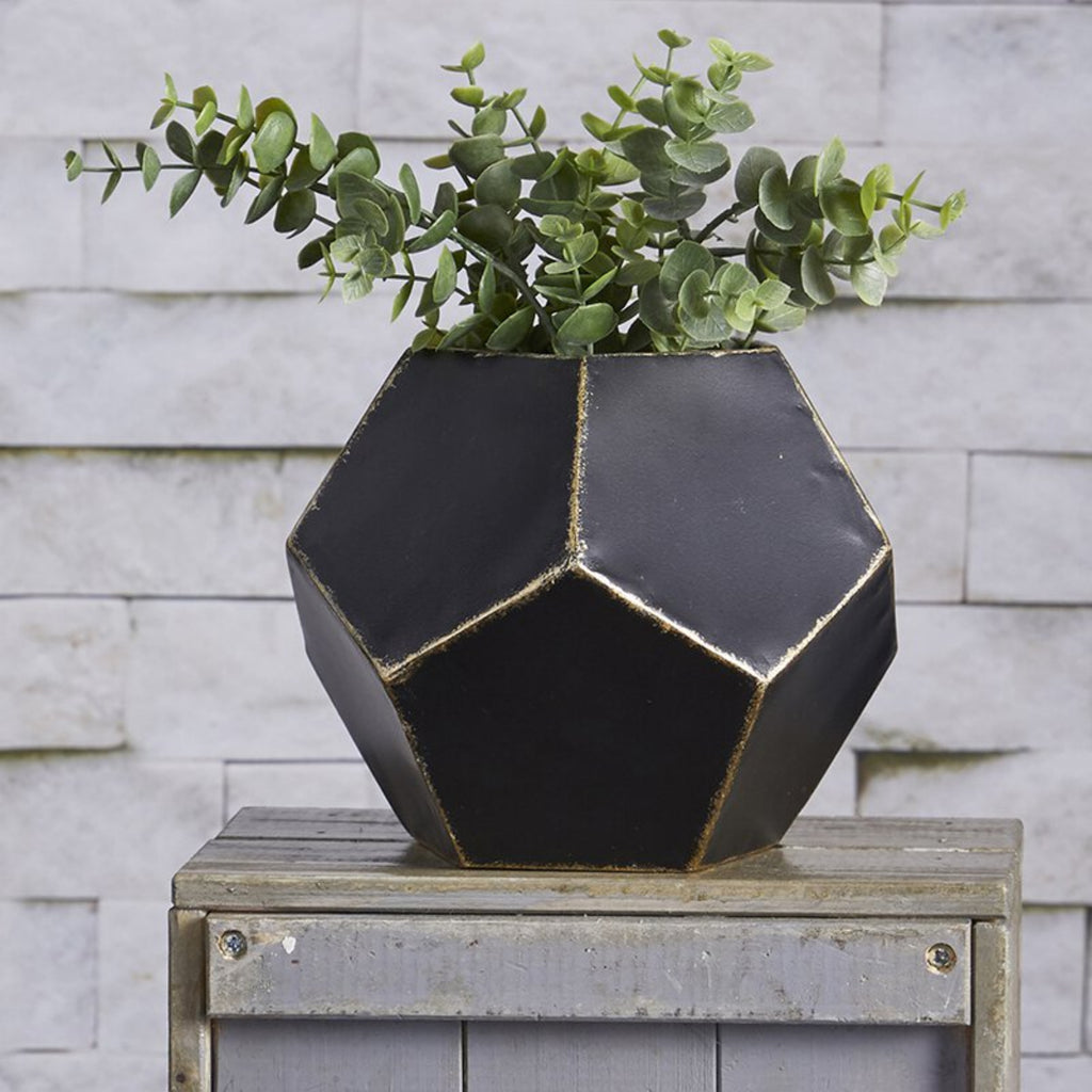 Geometry Planter in metal Hexagon Shape