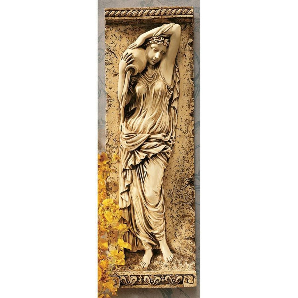Water Maiden Wall Sculpture Plaque Replica of Friezes Of Paris