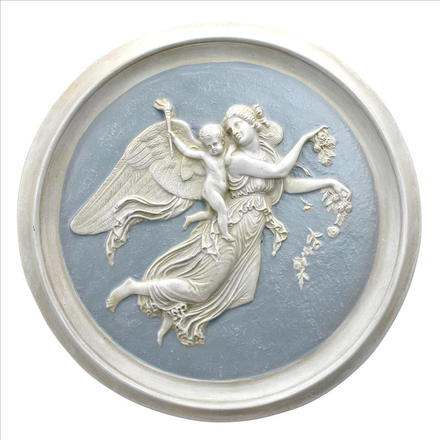 Morning Angel Roundel Wall Plaque