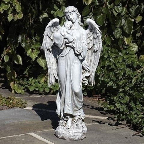 Angel Holding Baby Memorial Miscarriage Baby Statue