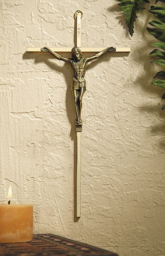 Gold Plated Cross With Antique Gold Finish Corpus