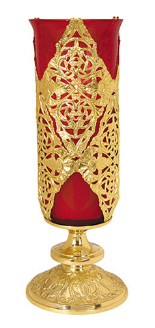 Red Ornate Sanctuary Lamp For Church or Home