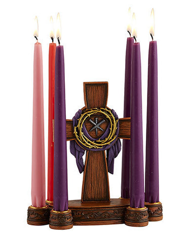 Jesus Cross Crown of Thorns Lenten Candle Holder   Easter gift