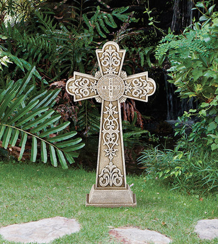 Saint Benedict Garden Cross Large 24 Inch