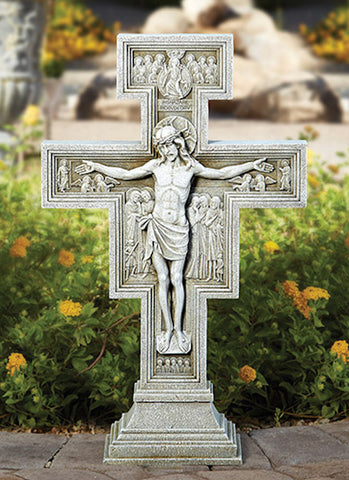 San Damiano Cross of Saint Francis Gorgeous Garden Cross Large 24 Inch