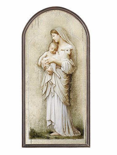 Madonna and child wall plaque Divine Innocence