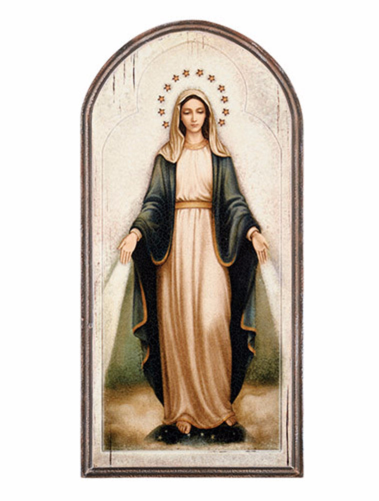 Our lady of grace arched wall icon large size