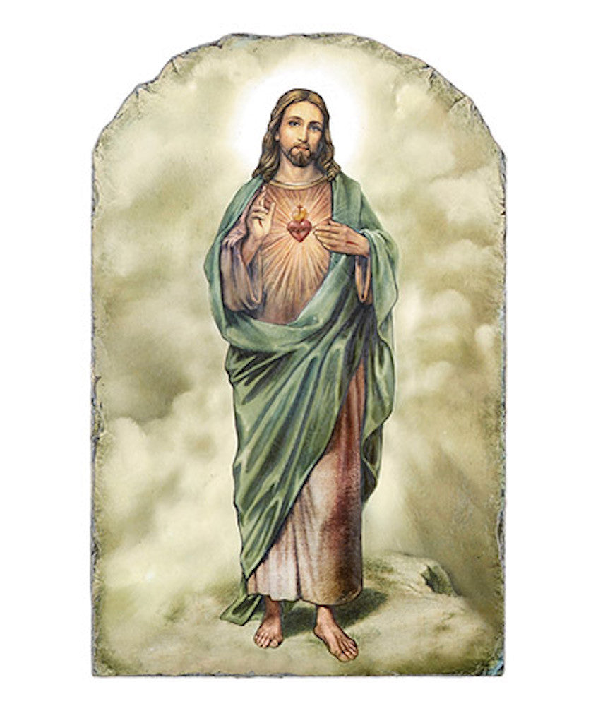 Sacred heart of jesus icon plaque