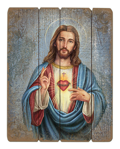 Sacred Heart Of Jesus Wooden Pallet Icon