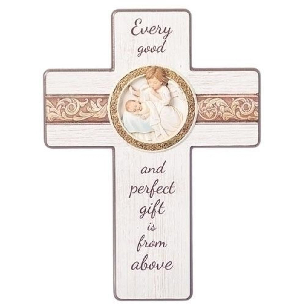 Baby blessing wall cross baptism gift