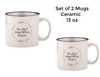 Thankful Grateful Blessed Mugs Set of Two