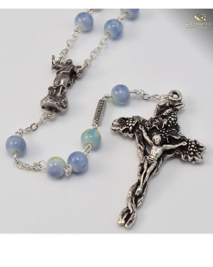 Holy Easter Silver Plated Rosary  By Ghirelli
