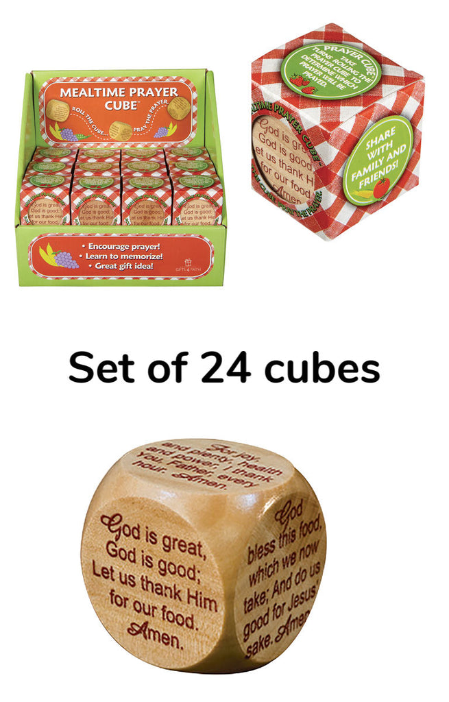 Set of 24 Mealtime Prayer Cubes Group gift