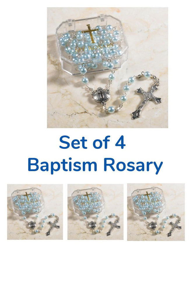 Set of 4 Blue Bapstim Rosaries